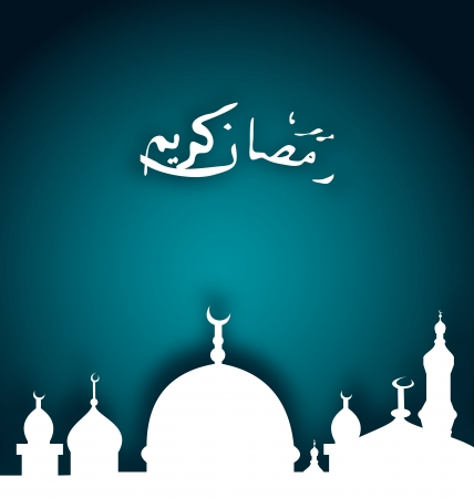 Illustration elegant religious background with beautiful mosque  Vector