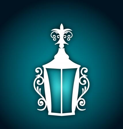forging: Illustration forging lantern for Ramadan Kareem