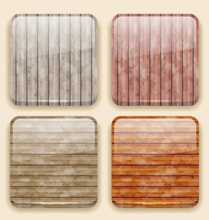 Illustration wooden backgrounds for the app icons  Vector
