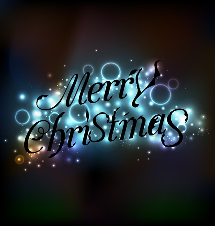 Illustration Merry Christmas floral text design Stock Vector - 20621721