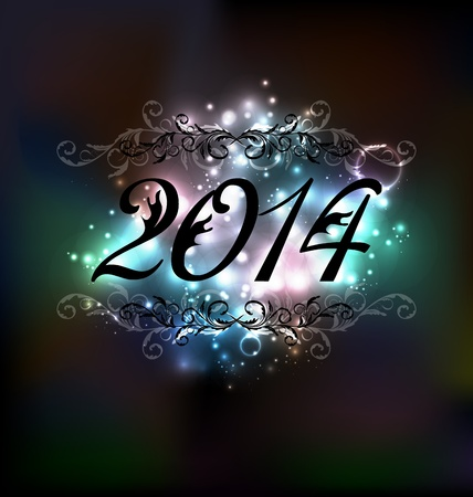 Illustration New Year glowing night background Stock Vector - 20621724