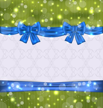 Illustration Christmas background with ribbon bows - vector Stock Illustration - 20945343