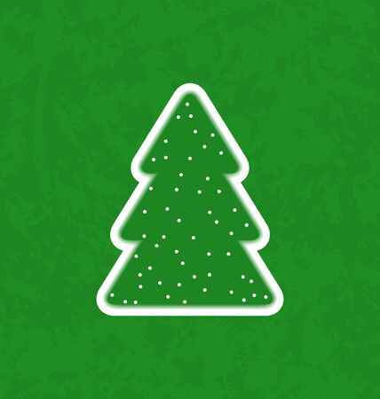 Illustration green paper cut-out christmas tree - vector Stock Illustration - 20945361