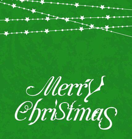 Illustration Christmas card, Merry Christmas lettering - vector Stock Illustration - 20945401