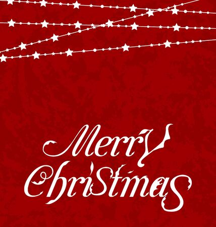 Illustration Christmas card, Merry Christmas lettering - vector Stock Illustration - 20945402