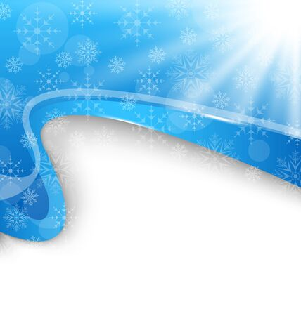 Illustration cute winter brochure with snowflakes - vector Stock Illustration - 20945409