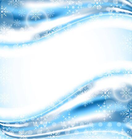 winter wallpaper: Ilustraci�n wallpaper lindo con los copos de nieve - vector Foto de archivo