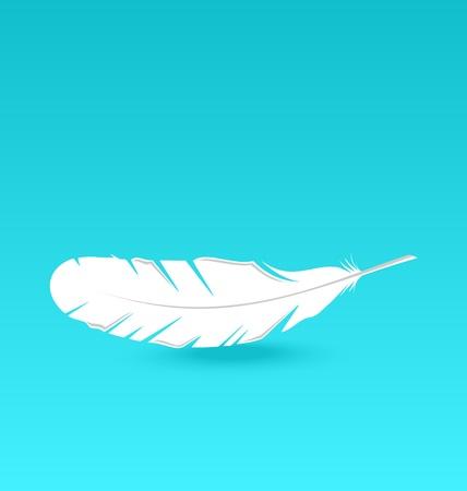 Illustration white feather falling - vector Stock Illustration - 22096282
