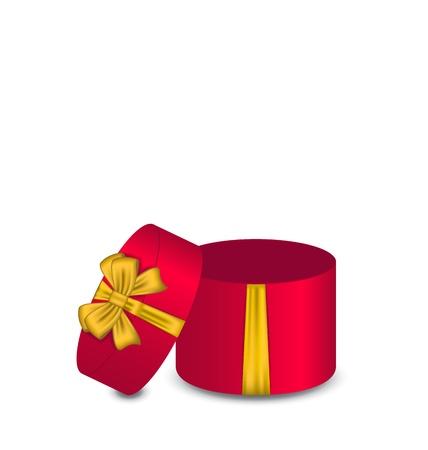 Illustration open gift box isolated on white background - vector Stock Illustration - 22096289