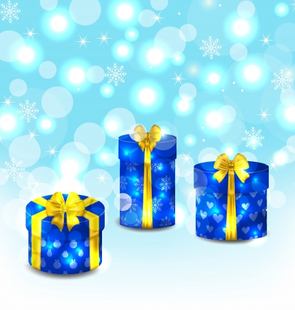 Illustration set gift boxes on light background - vector Stock Illustration - 22096291
