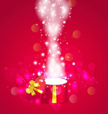 Illustration Christmas background with open magic gift box - vector  Stock Illustration - 22096294