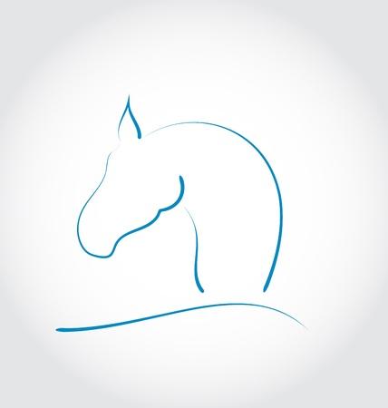 Illustration sign horse isolated on white background - vector Stock Illustration - 22096330