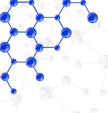 Illustration molecular structures chain with copy space - vector Stock Illustration - 22096339