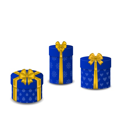 Illustration collection gift boxes isolated on white background - vector Stock Illustration - 22096344