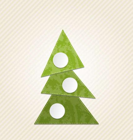 Illustration Christmas abstract tree, minimal style - vector illustration