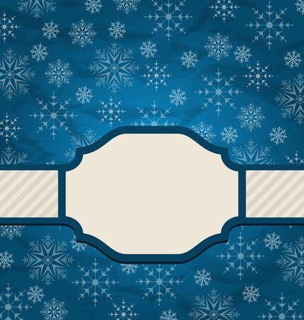 artboard: Illustration Christmas elegant card with snowflakes - vector Stock Photo