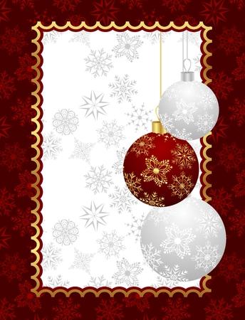trumpery: Illustration Christmas background with set balls - vector Illustration
