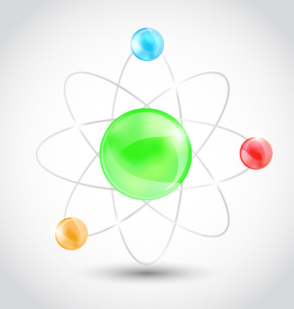 Illustration atom symbol isolated on white background - vector