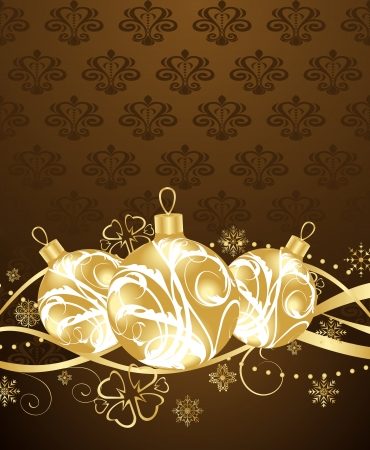 Illustration beautiful Christmas background - vector Vector