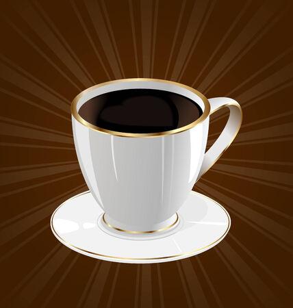 encasement: Illustration vintage background with coffee cup - vector Illustration