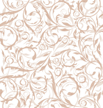 replicate: Illustration excellent seamless floral background, pattern for continuous replicate - vector