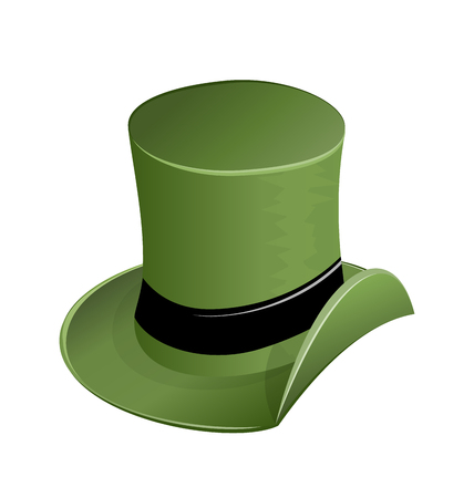 patrik: Illustration of green hat in saint Patrick Day - isolated on white - vector Illustration