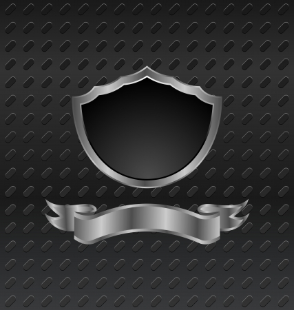 Illustration heraldic shield on metallic background - vector Stock Vector - 24333719