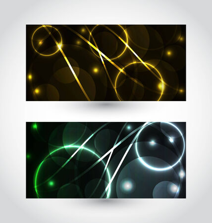 Illustration set of abstract futuristic cards - vector Vector