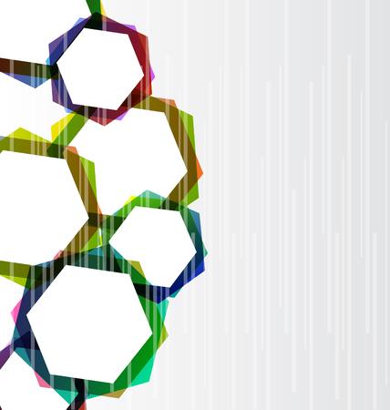 hape: Illustrazione set astratto colorato esagoni di sfondo - vector Vettoriali