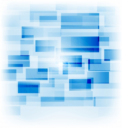 Illustration abstract creative background with transparent squares - vector Çizim