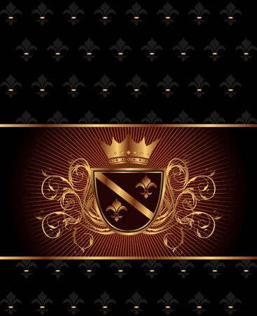 Illustration luxury vintage frame template - vector Vector