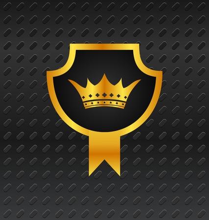 Illustration heraldic shield on titanium background - vector Stock Vector - 24342054