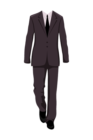 Illustration male business suit, design elements - vector Vector