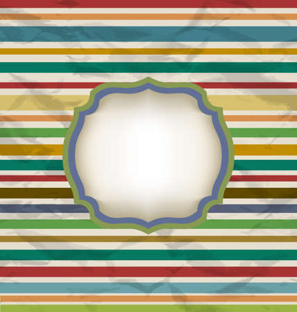Illustration retro stripe pattern, colorful vintage background - vector Vector