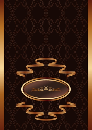 Illustration royal background with golden frame and ribbon - vector Stock Vector - 24378505