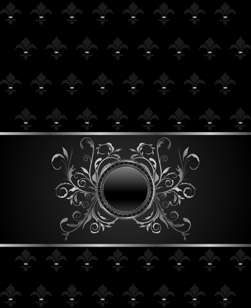 titanium: Illustration luxury vintage titanium frame template - vector Illustration