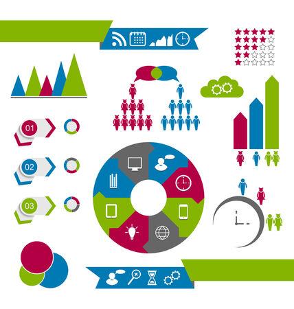 Illustration infographic design elements Stock Vector - 24378925
