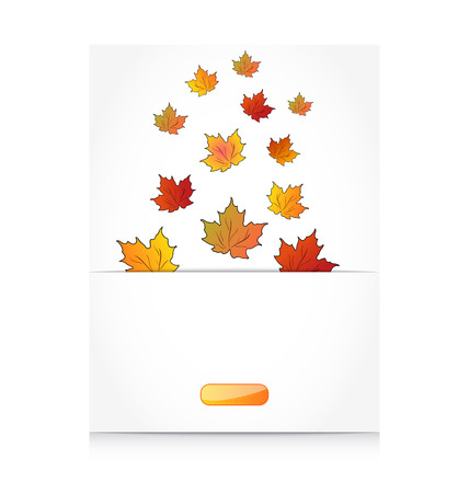 greening nature natural: Illustration fall maple leaves, autumn background - vector