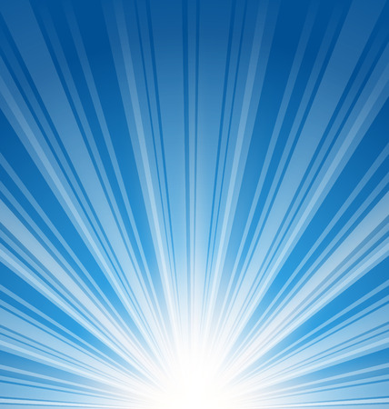 beam of light: Illustration abstract blue background with sunbeam - vector