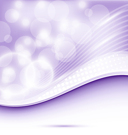 Illustration abstract wavy purple background for design - vector Vector