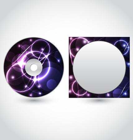 blueray: Illustration cd disk packing design template - vector