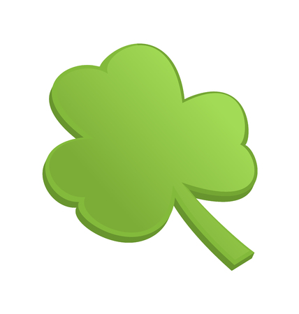 Green shamrock clover on st Patrick Day - isolated on white - 3d vectror Vector