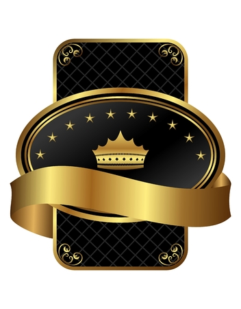 ornate gold frame: Marco de oro ornamentada decorativo en ilustraci�n - vector