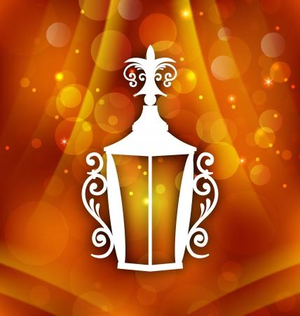 forging: Illustration forging lantern for Ramadan Kareem - vector Illustration