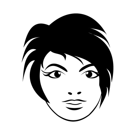 girl face close up: Illustration girl face. Close up - vector Illustration