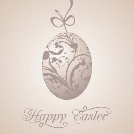 paschal: Illustration Easter paschal grunge egg - vector Illustration