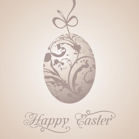 Ostern: Illustration Easter paschal grunge egg - vector Illustration
