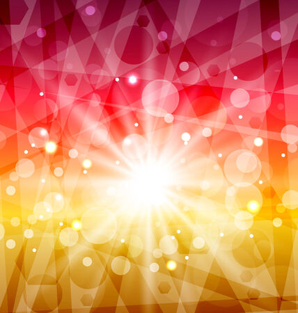Illustration Abstract background with sun rays - vector Vector