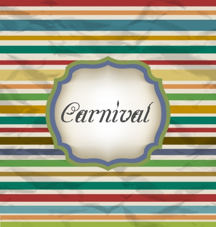 Illustration old colorful card with advertising header for carnival - vector Vector