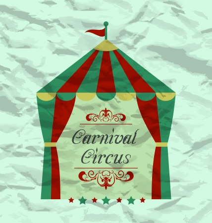 Illustration vintage circus poster for your advertising - vector Vector